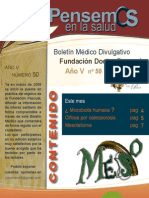 Boletín Médico Divulgativo Fundación Doctor Pascual Año V nº 50 mayo 2012