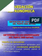 OBTENCIÓN DE PUNTO SUB ASTRAL