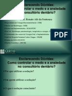aula SEDAÇAO especialização