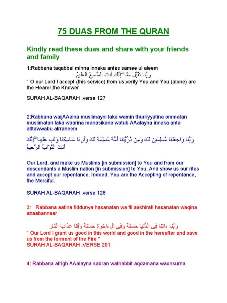 75 Duas From the Quran | Islamic Theology | Quran