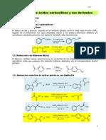 Reducción de ácidos carboxílicos y sus derivados