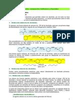 Reducción de Alcoholes, compuestos sulfónicos y epóxidos