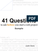 41 Questions Sample