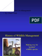 History of Wild Life Management