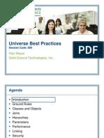 Universe Best Practices