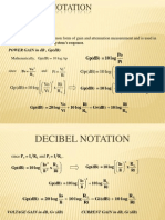 Decibel Notation