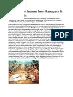 Management Lessons From Ramayana Mahabharata