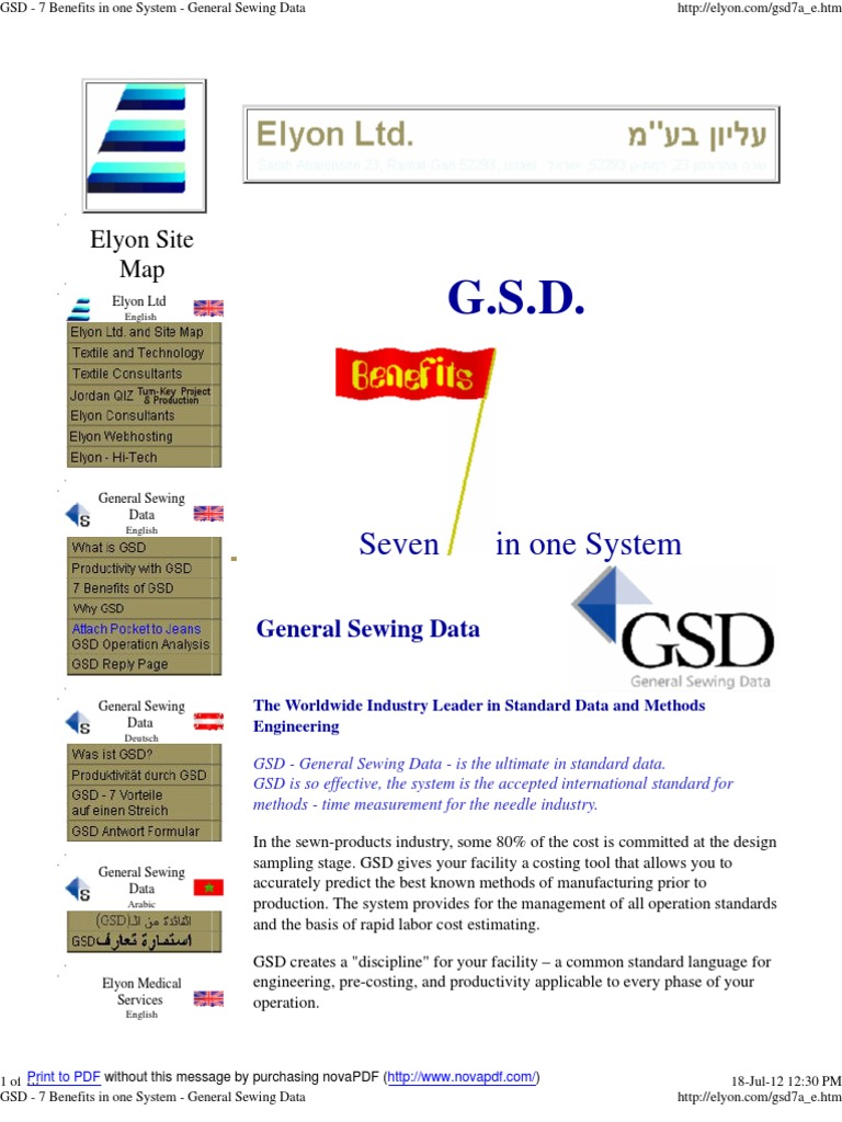 Define motion study - Gsd 7 Benefits In One System General Sewing Data