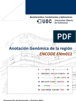 Anotación Genómica de la región ENCODE ENm011