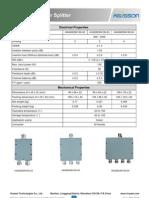 Microstrip Power Splitter Datasheet