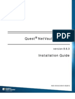 Quest NetVault Backup 863 Installation Guide English