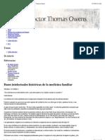 Bases intelectuales históricas de la medicina familiar | Thomas Owens