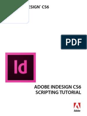 InDesign ScriptingTutorial | Scripting Language | Visual