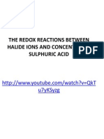 Rxn of Sulphuric Acid With Salts