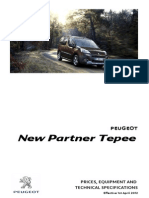 Peugeot Partner Tepee Prices and Specifications 3
