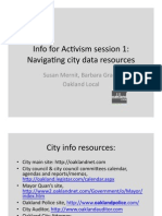 Navigating City Data Resources Oakland