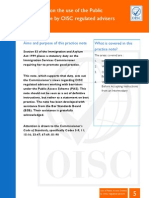 OISC Practice Note on the Use of PAS by OISC Regulated Advisers July 2012