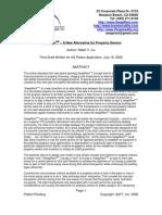 Original AeFT SwapRent Paper Written by Ralph Y Liu in 2006