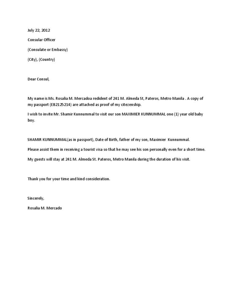 Invitation letter to embassy stopboris Images