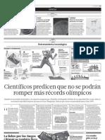 Científicos predicen que no se podrán romper más records olimpicos