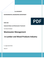 Wastewater Management in Lumber and Wood Products Industry-Progress