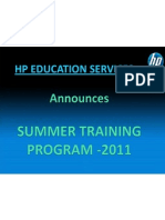 Hpes summer training presentation
