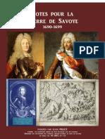 1887 PILLET Notes Pour La Guerre de Savoye 1690 1699