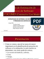 Modelo de Estimación de Proyecto de Software (COCOMO)