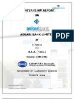 Askari Bank Internship Report