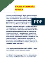 ORACION POR LA CAMPAÑA                  DE   ALTAFULLA