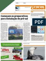 Começam obras do pré sal em Santos