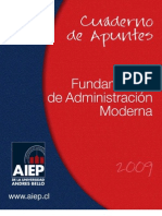 Cuaderno de Apuntes Fundamentos de Adm. Moderna
