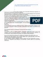 Proposició de Llei de Transparència i Govern Obert a la Comunitat Valenciana