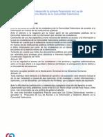 Proposición de Ley de Transparencia y Gobierno Abierto en la Comunitat Valenciana