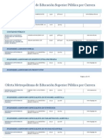 Oferta Metropolitana de Educación Superior Pública