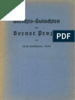 Fleischhauer, Ulrich - Gerichts-Gutachten Zum Berner Prozess - Die Echten Protokolle Der Weisen Von Zion (1935, 435 S., Text)