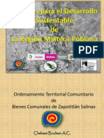 Ordenamiento Territorial Comunitario en la Mixteca Poblana, México