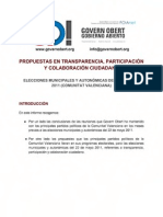 Informe GO Propuestas electorales 22M 2011