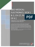 Bio Medical Electronics, Sec# 1 & 2, Ch 17, Part 1 of 6