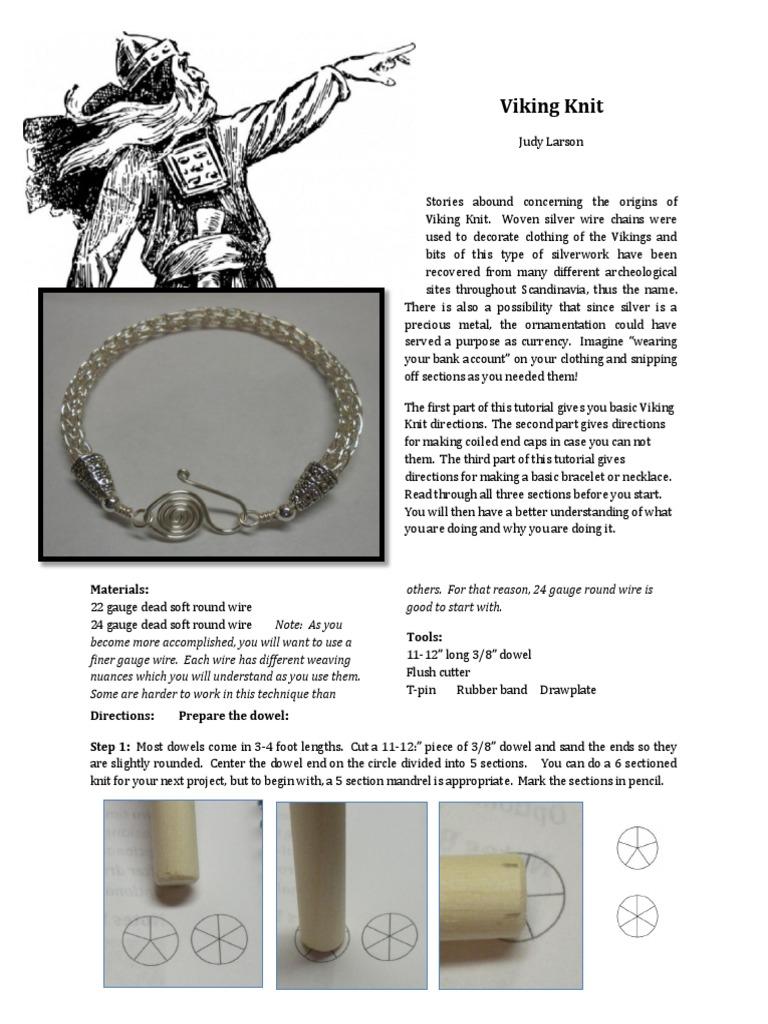 How to Make a Viking Knit Bracelet Tutorial | Knitting | Knitting Needle