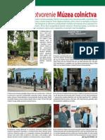 Slávnostné otvorenie Múzea colníctva (Colné aktuality č. 5 - 6/2012)