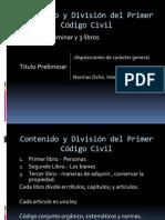 Dia Positiva Contenido y División del Primer Código Civil