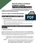 Loyola Scholarship Package