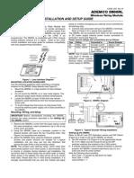 Honeywell 5800RL Install Guide