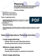 Aggregate Planning + MPS +Capacity Planning