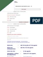 PRE - PROCESO 2012 - 2013