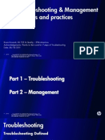 Case Troubleshooting and Mgmt Best Method and Practice