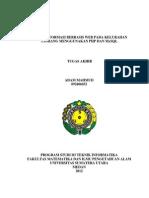 Sistem Informasi Berbasis Web Pada Kelurahan Tamiang Munggunakan Php Mysql