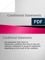 Lesson Plan in Conditional Statement 02-16-12