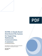 A Chunk-Based  Distributed File System  for Supporting  Multimedia  Communication - Summary